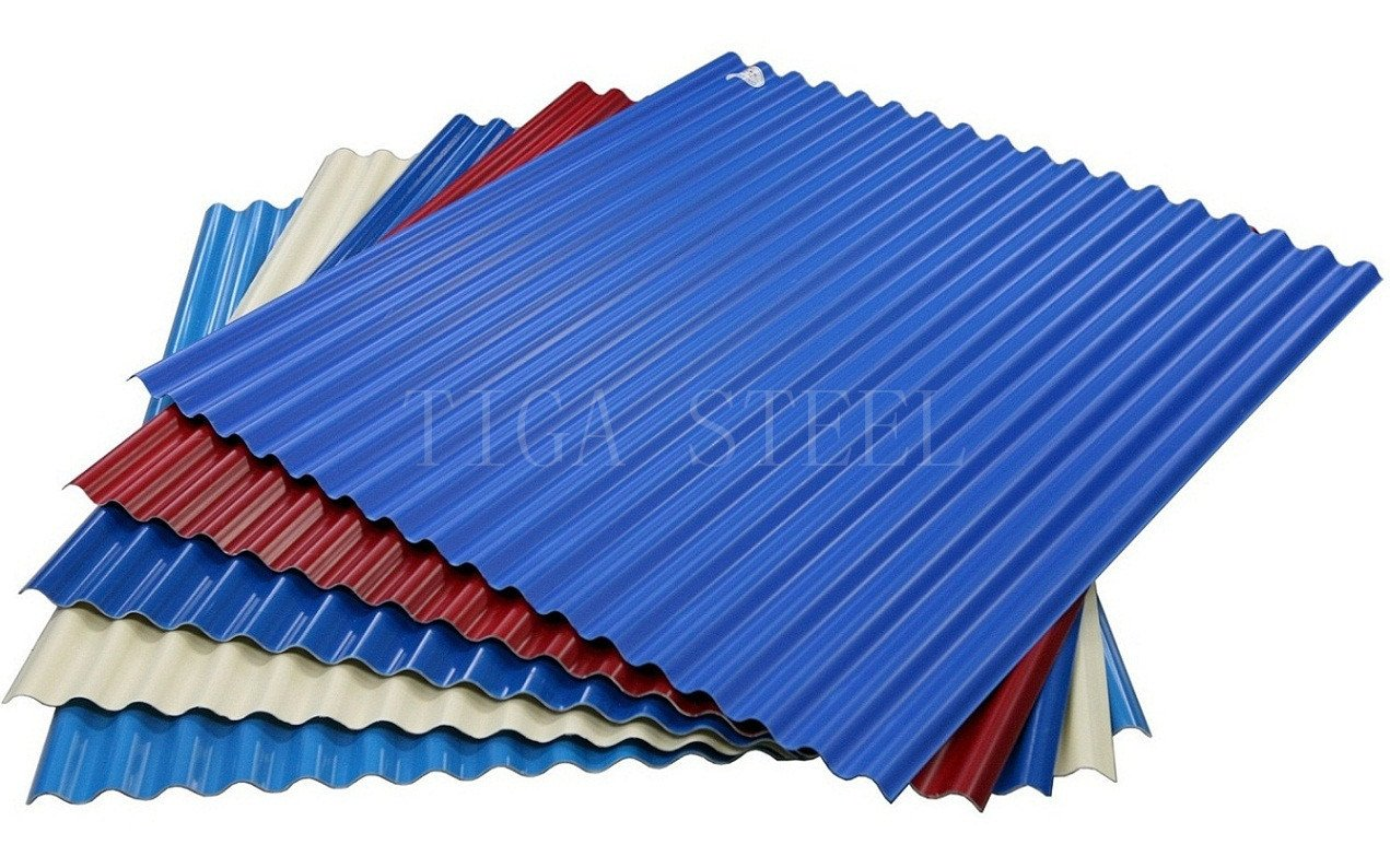 Red Metal Roofing Sheets Blue Color Coated Gi/Gl Sheets for Roof