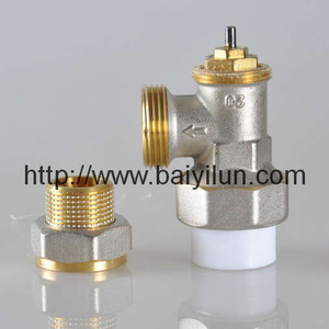 Thermostatic radiator PPR/PB/PE valve