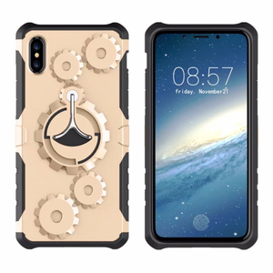 PC TPU Case For IPhone X ,For IPhone X Cell Phone Case Armband Wheel Gear Hybrid Shockproof Cover Armor Back Cases