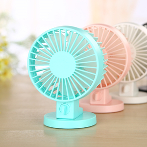 2018 New Dual Fan Candy USB Handheld Cooling Fan Rechargeable Battery Cooling Handheld Fan for Office