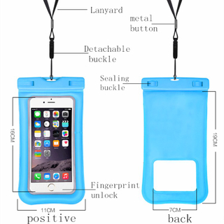 IP68 Mobile Phone Case 100% Waterproof Bag for IPhone X Samsung Waterproof Case