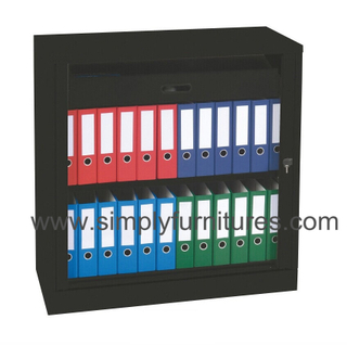 roller shutter door file cabinet with work surface
