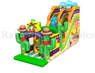 RB01022(7x6.5x5.5m) Inflatable castle with slide, Inflatable funcity for kids/ jumping bouncy
