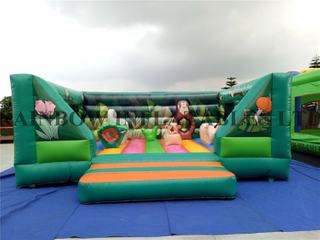 Inflatable Green Color Animals Theme Jumping Bouncer