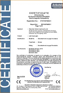 Certification of LED floodlight tunnel light