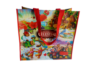 Colorful laminated RPET shopping bag for packing