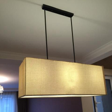 RECTANGULAR LINEN SHADE PENDANT (8044103)