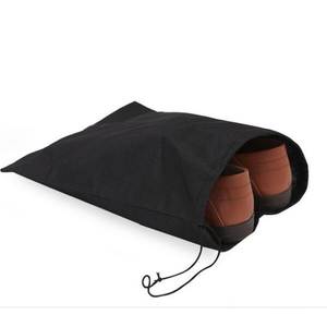 Personalized Black Travel Non woven Shoe Bag