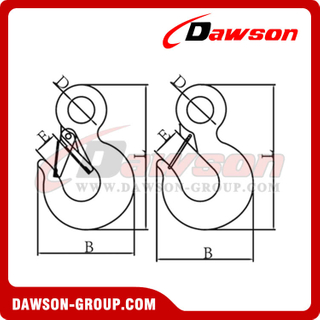 DS461 Eye Tow Hook con cierre