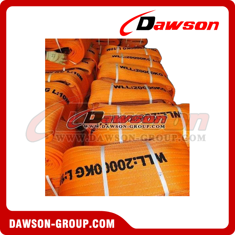 WLL 20 Ton Polyester Webbing Slings - Lifting Slings