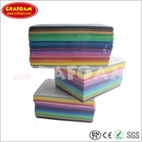 Color Eva foam sheets with shrinking packing