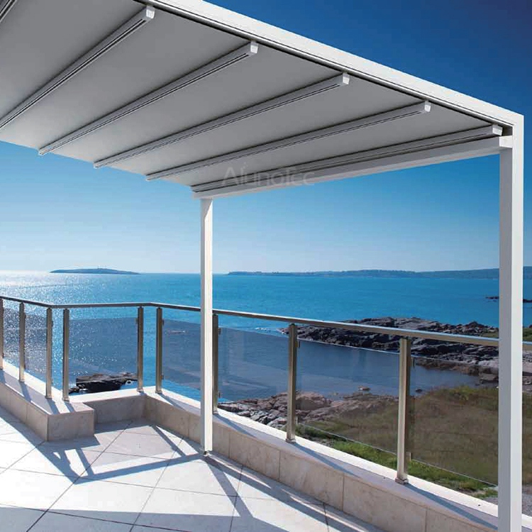 Aluminum Retractable Pvc Pergola Fabric Roof Buy Pergola