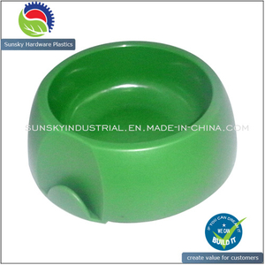 Green Color Plastic Pet Bowl for Feeding