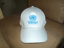 United Nation Logo Printed Cotton Baseball Cap