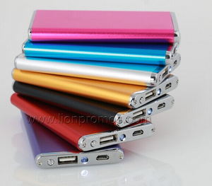 Assorted Corlorful Aluminum Alloy Metl Shell Power Bank for Smart Phone