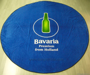 Round Cotton Velvet Beach Towel