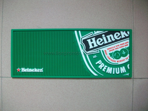 Beer Beverage Promotional Gift Custom Logo PVC Bar Mat