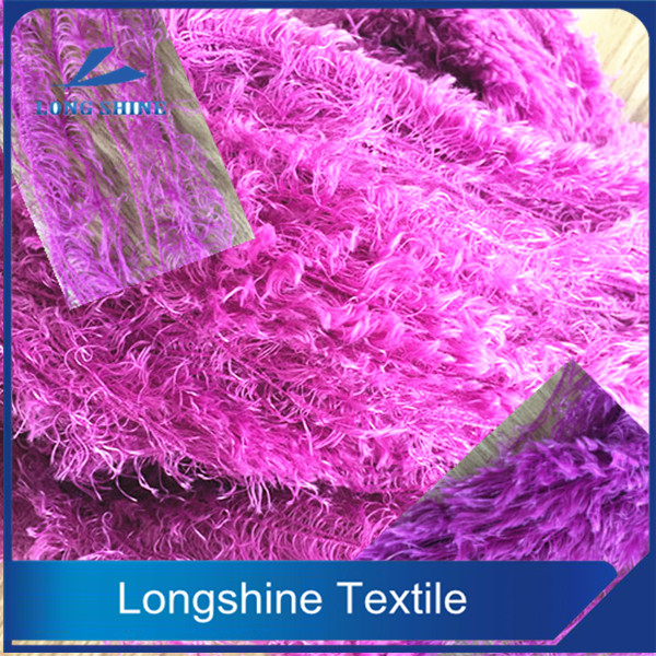 DOPE DYED POLYESTER BLENDED FEATHER YARN FEATHER FANCY YARN FOR SCARF