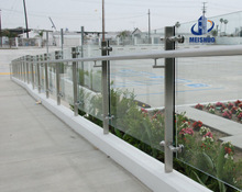 Balcony Glass Stainless Steel Balustrade