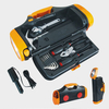 Tool Kit with LED Torch Light and Car Lighter Adapter