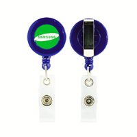Customized Badge Reels with Epoxy Logo for Name Badge Holder