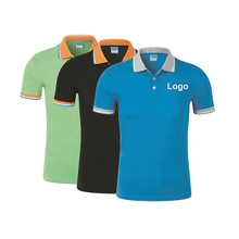 Multi Colors Cotton Fabric of T- Shirt with Custom Embrodery Logo for Promotion