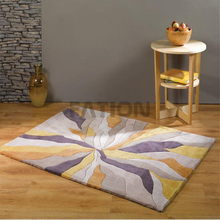 5'×8' Acrylic Yellow Multi Rug Indoor Floor Carpet