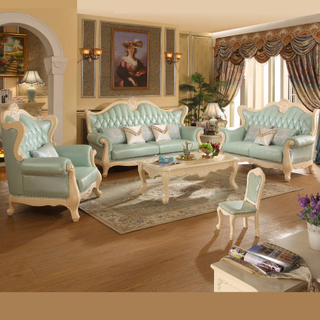 Classic Leather Sofa Set for Living Room Furniture