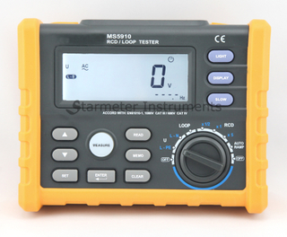 Digital RCD/LOOP Tester MS5910