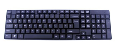 Computer Keyboard, 1.50USD with Fob and Color Box, MOQ 10, 000 PCS
