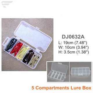 DJ0632A/B/C Plastic Clear Storage Box 3 Compartment Box