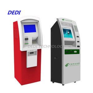 Dedi New design banking bill payment atm machine with card reader, cash acceptor and receipt printer