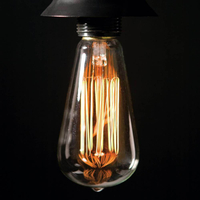 St64 Vintage Edison Light Bulb Retro Filament Edison Lamp 40W E27