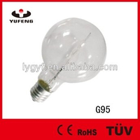 Halogen Bulbs G95, 120W, 220V, E27, 2000hrs, Clear, 95*130mm