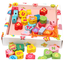 Wooden Beads Lacing Toys