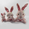 New Plush Pink Rabbit Chew Squeaker Pet Toy