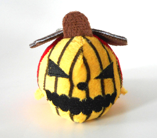 Custom Stuffed Plush Toy Pumpkin Halloween Keychain Toy