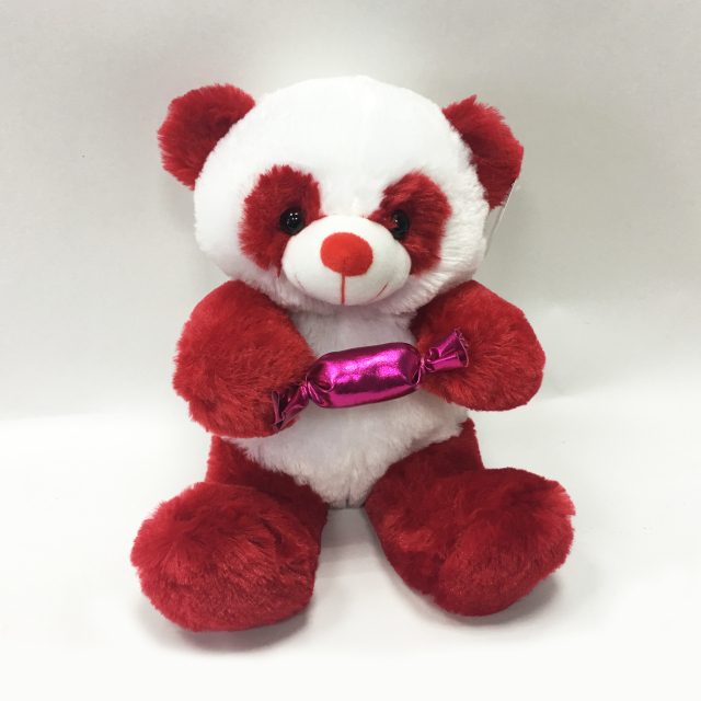 New Design Custom Cute Plush Panda Toy with Candy Holder