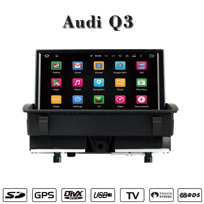 Carplay Car Dvd Player Android 7 1 Anti Glare For Audi Q3 Flash 2
