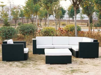 Rattan Furniture Synthetic Wicker Sofa Corner Set for Outdoor Furniture