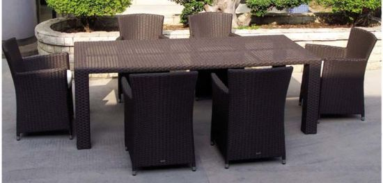 Garden Patio Wicker / Rattan Furniture Dining Set (LN-045)