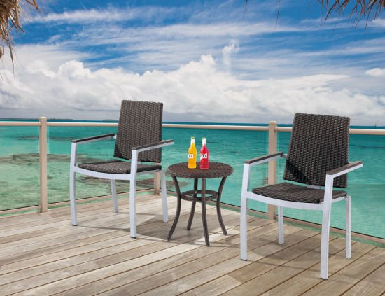 Outdoor Rattan/Wicker Cafe Table and Chair Set