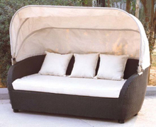 Garden Rattan/Wicker Daybed with Canopy for Outdoor Furniture