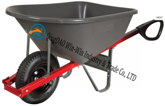 6 Cubic Foot Poly Wheelbarrow