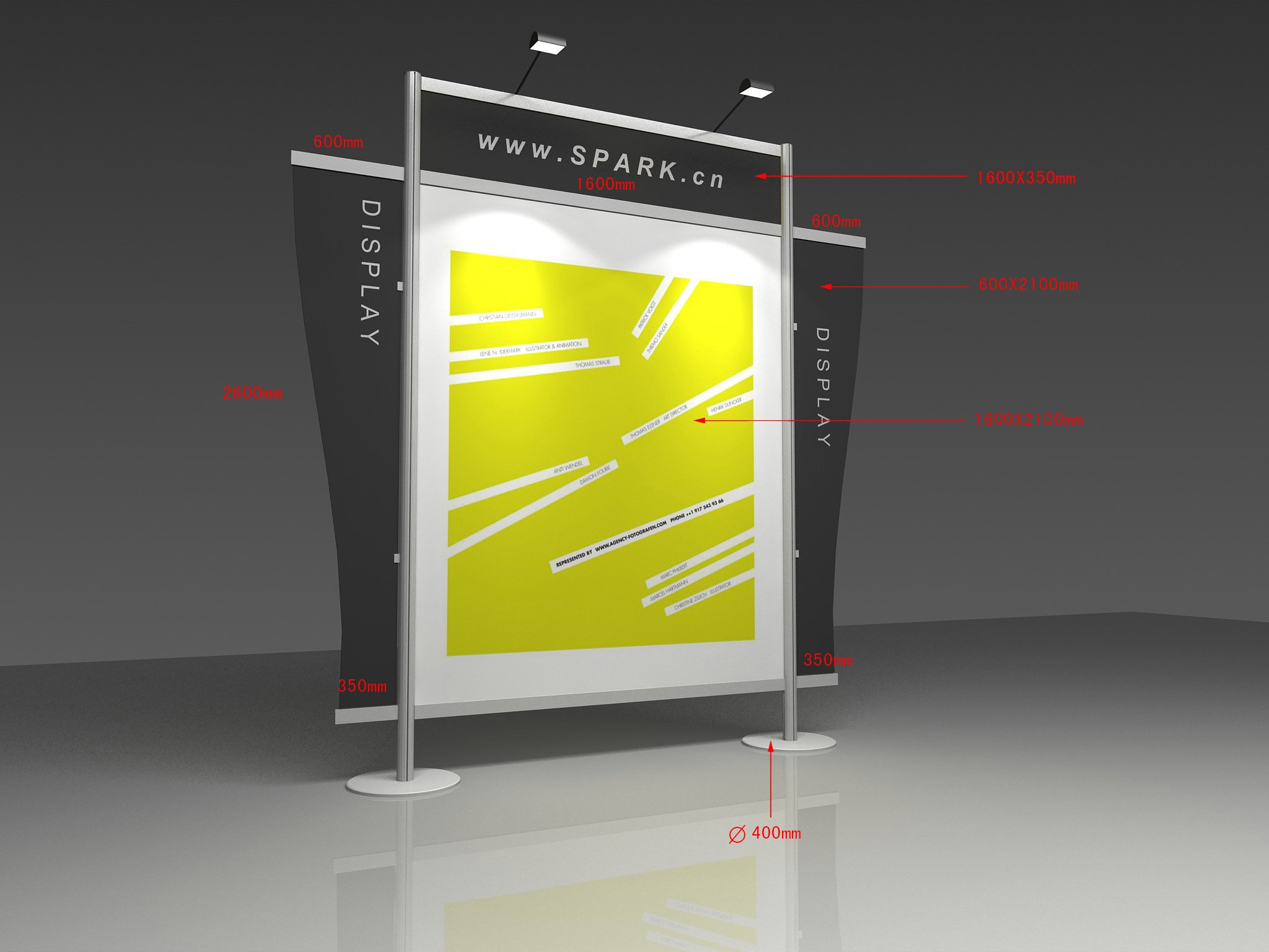 Exhibition Stand Banner : Aluminum ft exhibition booth banner backdrop stand