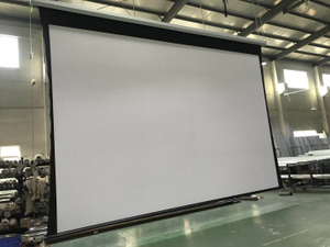 300'' large electric motorized roll up screen for large project (4:3)