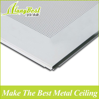 595*595 Lay in Acoustic Aluminium Perforated Ceiling