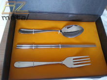 Light Weight High Quality Titanium Three in One Tableware for Adults