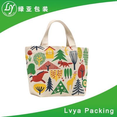 Promotional Customized Printed Logo Cheap trendy shopping tote cotton bag