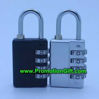 Combination padlock with key
